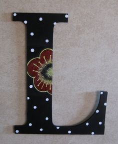 Hand Painted Letters..just not so girly for my boy ;)