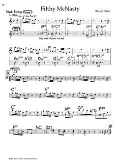 Filthy McNasty (Bb Book) Sheet Music Preview Page 1