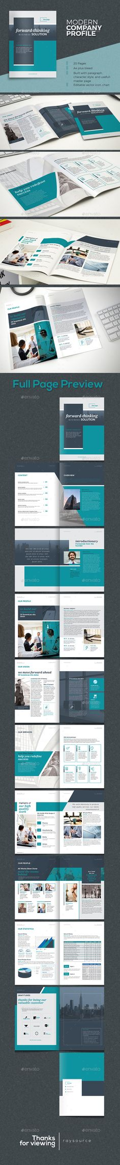 Company Profile Template u2026 Pinteresu2026 - professional business profile template