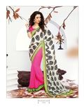 A smart designer saree with Polka Dot.