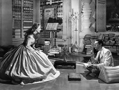 Rex Harrison and Irene Dunn in Anna and the King of Siam. 1946
