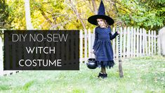 do it yourself divas: DIY No-Sew Witch Costume Witch Costumes, Little Babies, Newlyweds, Crafts To Make, Sewing, Halloween, Children, Diy, Young Children