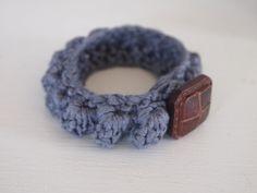 Crocheted Popcorn Bracelet pattern