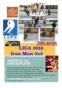 Se viene la Liga Iron Man 3x3 2016 en Peru Beach Roller Hockey Arena!!!! - http://ift.tt/1HQJd81