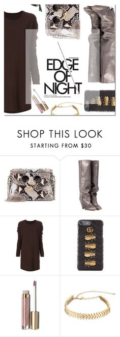 """""""Edge"""" by fee4fashion ❤ liked on Polyvore featuring J.W. Anderson, Isabel Marant, Ilaria Nistri, Gucci, Stila and Rebecca Minkoff"""