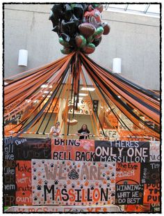 """Massillon Ohio Washington high school  """"Massillon Beat McKinley"""" open house. The students decorate the high school, as you can see they do a fabulous job! """"Thats my granddaughter Isabella in the black""""  ~mbr~"""