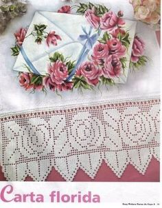Luci Artes: PIntura em Tecido- Lindos Riscos de Flores & Gráficos Barrados em Crochê