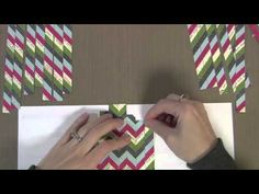 Chevrons seem to be popular all over this year.  Nice video on how to make a paper one for scrapbooking or card making.