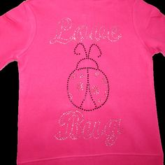 Baby Bling Rhinestone Love Bug Sweatsuit Baby Bling, Love Bugs, Trending Outfits, Unique Jewelry, Handmade Gifts, Etsy, Kid Craft Gifts, Craft Gifts, Costume Jewelry