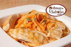 Aromas e Sabores: Massa com molho de tomate cremoso e cachaça