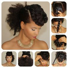 Double two strand twist Mohawk.