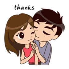 Love Couple Stickers For Whatsapp - WAStickerApps Love Cartoon Couple, Cute Cartoon Girl, Cute Love Cartoons, Anime Love Couple, Cute Love Pictures, Cute Cartoon Pictures, Cute Couple Drawings, Love Drawings, Love Png