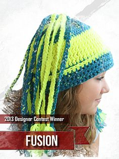 A wicked cool crocheted beanie, the sales from Fusion benefit designer Sheri Goad's choice: St. Baldrick's Foundation for Children's Cancer Research. http://www.stbaldricks.org/