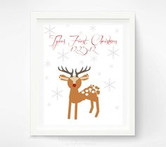 Baby's+First+Christmas++Baby+Footprint+by+PitterPatterPrint,+$35.00
