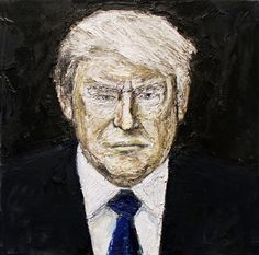 Available for sale from Galerie Michaela Stock, Ivica Capan, Trump Oil on canvas, 40 × 40 cm Media Images, Oil On Canvas, Artsy, Artwork, Painting, News, Check, Kunst, Work Of Art