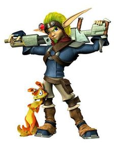 Jak & Daxter from the Jak and Dexter series by Naughty Dog --- these two guys are too cool :D