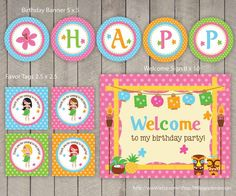 Luau Party Package / Luau Birthday Pack / Luau Party by DreamyDuck