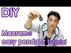 For beginners!!Macrame Pendant Easy Tutorial Ver02 - YouTube