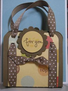 Chapstick Purses kh by Kelly H - Cards and Paper Crafts at Splitcoaststampers ...what a fantastic idea!