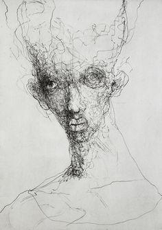 JESPER WALDERSTEN Print, 'Kaos La Frentica,' 2011   Engraving on Hahnemühle printing paper 300 gr; signed bottom right; unframed; image size 49,5 x 69 cm; sheet size 54 x 78,5 cm