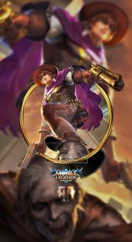 Wallpaper Phone Clint Wild Wanderer Old By Fachrifhr Mobile Legends Mobile Legend Wallpaper Clint