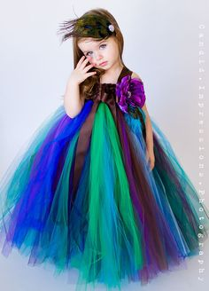 Flower Girl Tutu Dress in Couture Peacock by TheLittlePeaBoutique, $117.00                                                                                                                                                                           WHAT LITTLE GIRL WOULDN'T WANT THIS!?!
