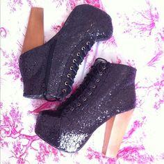 Glitter high shoes <3