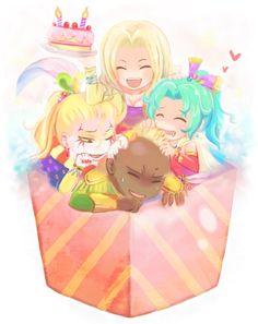 Celes, Kefka, Terra and Leo