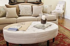 2 Vintage Sisters: A New Ottoman Coffee Table