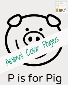 Animal Color Pages for toddlers and preschooler.  Great to go over animals and letters by FSPDT