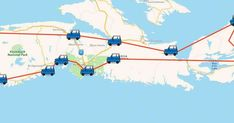 This Map Will Take You On The Ultimate Nova Scotia Road Trip In 2017 featured image East Coast Travel, East Coast Road Trip, Alberta Canada, Ottawa, Quebec, Road Trip Map, Road Trips, Nova Scotia Travel, Lighthouse Trails