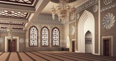 El Rayan mosque is located in Damam , KSA .Interior design and architectural visualization by me using autocad - 3ds max - vray - photoshop .For hamed bn hamri office