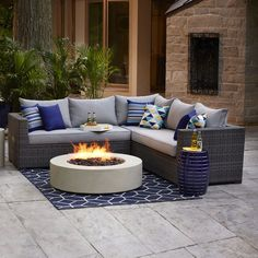 Shop allen + roth Westmount Sectional Wicker Sofa Set at Lowe's Canada. Find our selection of outdoor conversation sets at the lowest price guaranteed with price match + off. Sectional Patio Furniture, Patio Furniture Sets, Wicker Furniture, Antique Furniture, Urban Furniture, Furniture Ideas, Rustic Furniture, Sectional Sofa, Poolside Furniture