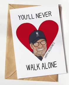 With Liverpool FC on top of the league, why not earn some brownie points and get a supporter the perfect Valentine's Liverpool card? Fc Liverpool, European Soccer, Brownie Points, You'll Never Walk Alone, Zinedine Zidane, Walking Alone, Ac Milan, Chelsea Fc, Tottenham Hotspur
