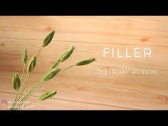 Easy Way to Make Felt Flowers - How to Make Buds Felt Flower - Tutorial Felt Dyi Flowers, Zipper Flowers, Felt Flowers, Fabric Flowers, Ribbon Flower Tutorial, Bow Tutorial, Felt Flower Bouquet, Felt Succulents, Flower Video