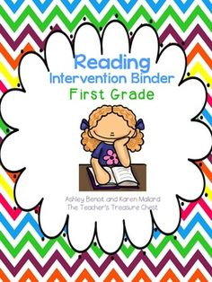 This reading intervention binder was created by myself and Karen Mallard (Reading Specialist). It is designed for small group instruction for first grade. The binder includes over 260 pages of engaging and unique intervention activities. Included:Assessments- Formative Beginning Sound Assessment, Rhyming Assessment, Sight Word Assessments (Reading Levels A-F), Word Awareness Assessment, Syllable AssessmentLetter Sound Identification: I know My Letters/ Sounds (9 pages)Break It/ Blend It…