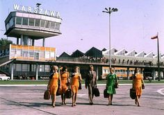 Warsaw Airport in 70s, Poland
