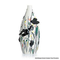 FZ02832 Wild flowers Franz Porcelain L Vase (LE 588) Wu Guanzhong collection | eBay