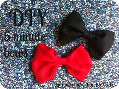 much more than the birds.: Diy 5 minute bows.  #easy #tutorial #hair