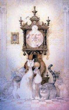 Daniel Merriam clock art | Hickory Dickory - Daniel Merriam