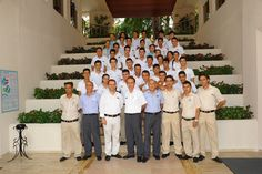 A part of our service team with their chiefs.