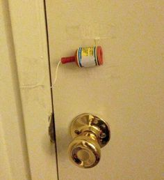 Affix a party popper to your kid's bedroom door. | 31 Awesome April Fools' Day Pranks Your Kids Will Totally Fall For