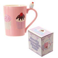 Lauren Billingham Mug à poignée Motif cupcakes Rose: Amazon.fr: Cuisine & Maison