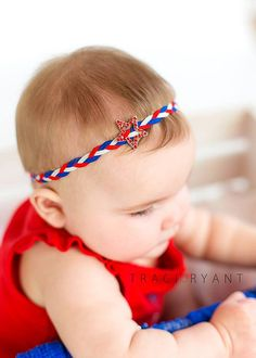 4th of july boho band fourth of july by DanicasChicBowtique, $8.00