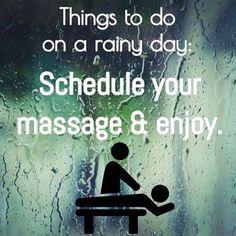 rainy day? Massage #massagebenefits