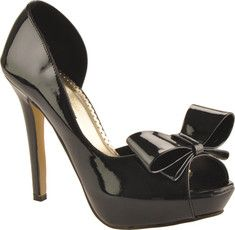 This sexy platform peeptoe pump is made in patent material with a Geman embossed sole.  A versatile style that will work for special occasions or a night out on the town.