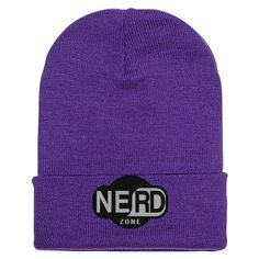 Nerd Zone Embroidered Knit Cap