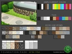 The Sims Resource: Foundation Pack by Pralinesims • Sims 4 Downloads