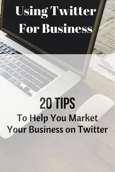 Are You Using Twitter For Business? These Twitter marketing tips help you find, connect with and engage your audience on Twitter. Facebook Marketing, Social Media Marketing, Marketing Ideas, Digital Marketing, Twitter For Business, Online Business, Business Tips, Twitter Bio, Business Magazine