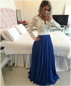 98142102962 Beaded Lace Bodies Sexy Long Evening Dress with Long Sleeves Wedding Party  Gown in Clothes